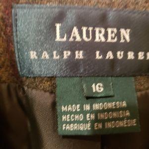 Ralph Lauren Brown Plaid Blazer